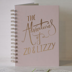 Personalised 'The Adventures Of' Memory Book - gifts for travel-lovers