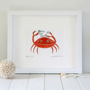Coastal Crab Print - posters & prints