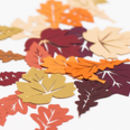 Table confetti for Autumn wedding.