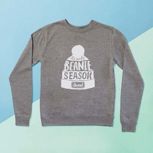 'Its Nearly Beanie Season' Ladies Sweater