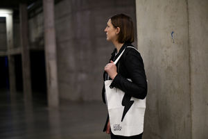 Cotton Lightning Bolt Tote Bag