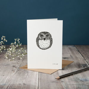 O Is For Owl Card