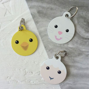 Easter Rabbit Chick Pet ID Tag - dogs