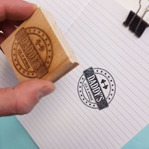Dad's 'Seal of Approval' Stamp - diy & craft