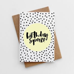 'Birthday Squeeze' Card