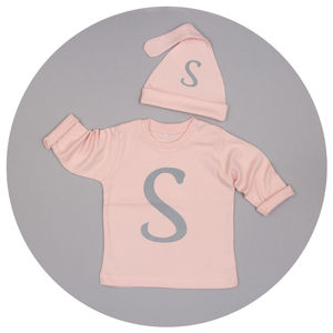 Personalised Initial T Shirt And Hat Set