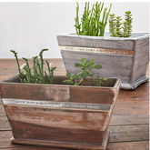 Personalised Wooden Pot Planter - garden
