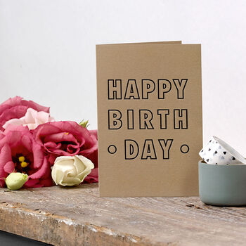 'Happy Birthday' Small Letterpress Card