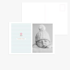 20 Baby Blossom Birth Announcement Thank You Postcards