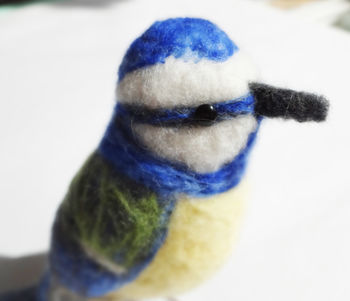 Needle Felted Collectible Blue Tit