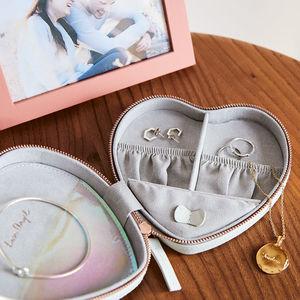 Personalised Heart Travel Jewellery Case - gifts for teenagers