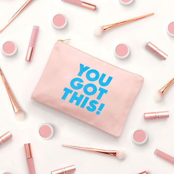 'You Got This' Blush Pink Pouch