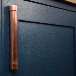 Chunky Copper Bar Pull - door knobs & handles