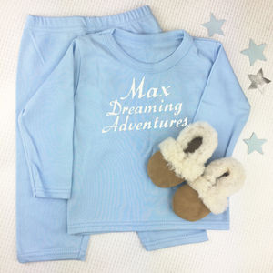 Personalised Pyjamas And Sheepskin Slippers Set - clothing