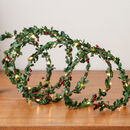 Holly Fairy Light Garland