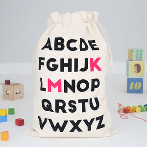 Personalised Toy Sack Abc - children's storage