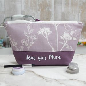 Personalised Wild Meadow Make Up Bag Or Wash Bag - gifts for her