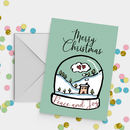 Christmas House Snowglobe Card A5