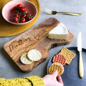 Personalised Wedding Anniversary Cheese Board