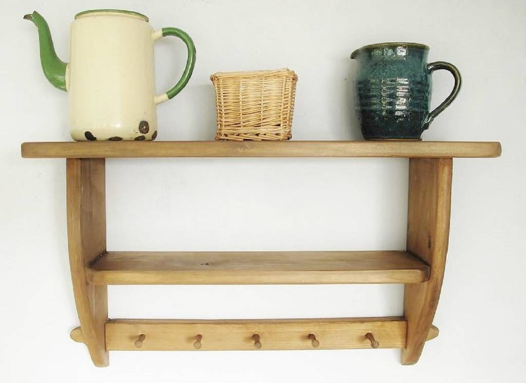 Vintage Country Kitchen Double Shelf By Seagirl And Magpie