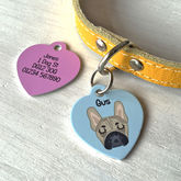 Personalised Pet Name Tag Heart - pets
