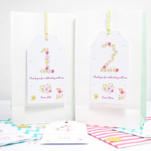 Set Of 10 Personalised Children's Thank You Party Tags