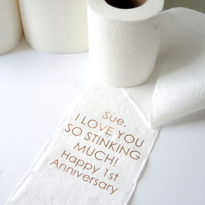 Personalised 1st Anniversary Paper Toilet Roll - cards & wrap