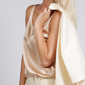 Silk Satin Camisole In Champagne Or Black - summer sale