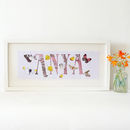 Personalised Butterfly Baby And Child Name Sign