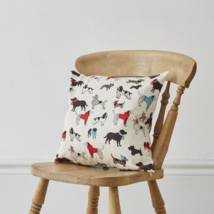 Mixed Dog Breed Cushion - bedroom