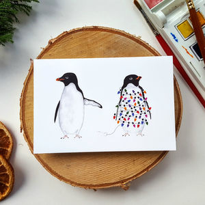 Festive Penguins Christmas Cards - cards
