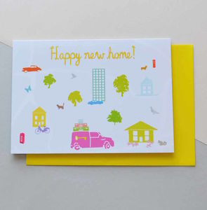 Happy New Home Moving House Card - new home cards