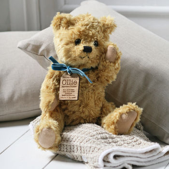 Personalised New Baby Teddy Bear