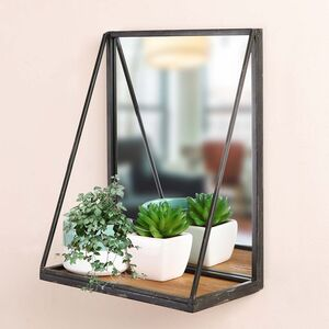 Industrial Style Wall Shelf And Mirror