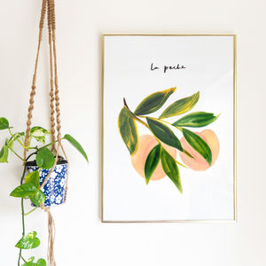 La Peche A2 Peach Kitchen Print - home picks with free mainland uk delivery