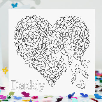 Daddy Birthday Card To Colour In