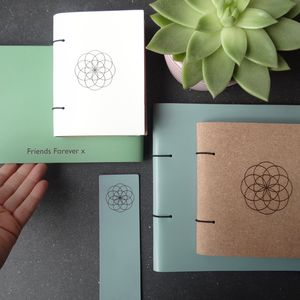 Flower Of Life Leather Garden Journal Scrapbook