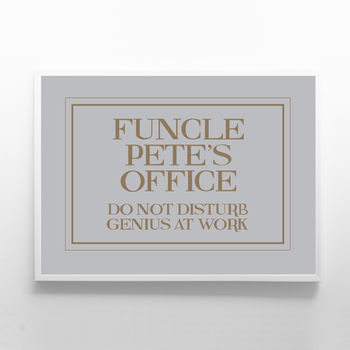 Personalised Print Sign For Uncle