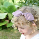 Linen Bow Hairband