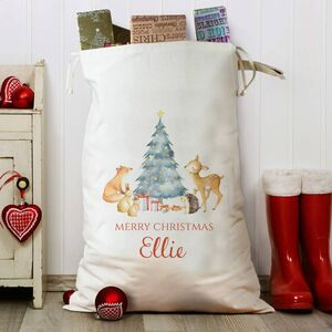 Forest Friends Personalised Christmas Sack