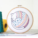 Cat Contemporary Embroidery Craft Kit