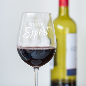 'The Whine Expert' Wine Glass - drink & barware