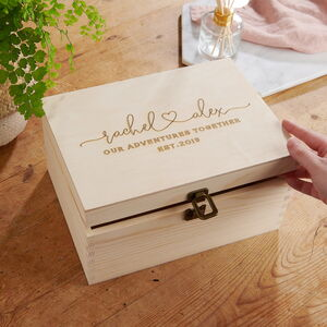 Personalised Couples Memory Keepsake Box