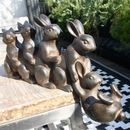 Rabbits Playing Garden Sculpture