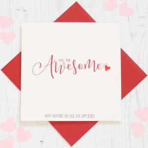 Personalised Red Foil 'Awesome' Card