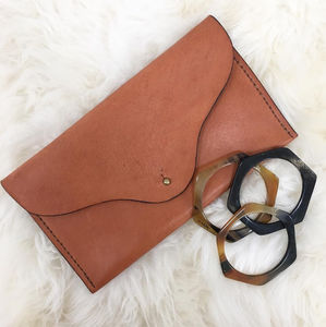 Clutch Bag Leather Vegetable Tanned Ethically Made