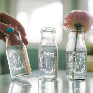 Personalised 'Mum' Bottle Bud Vases - personalised gifts
