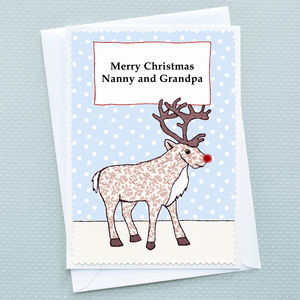 'Christmas Reindeer' Personalised Christmas Card - cards & wrap