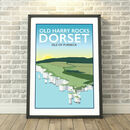 Old Harry Rocks, Isle Of Purbeck, Dorset Print