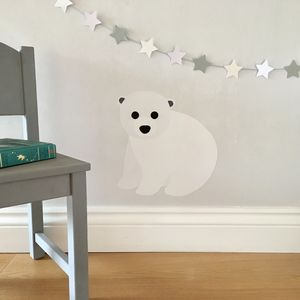 Baby Polar Bear Wall Sticker - christmas wall stickers
